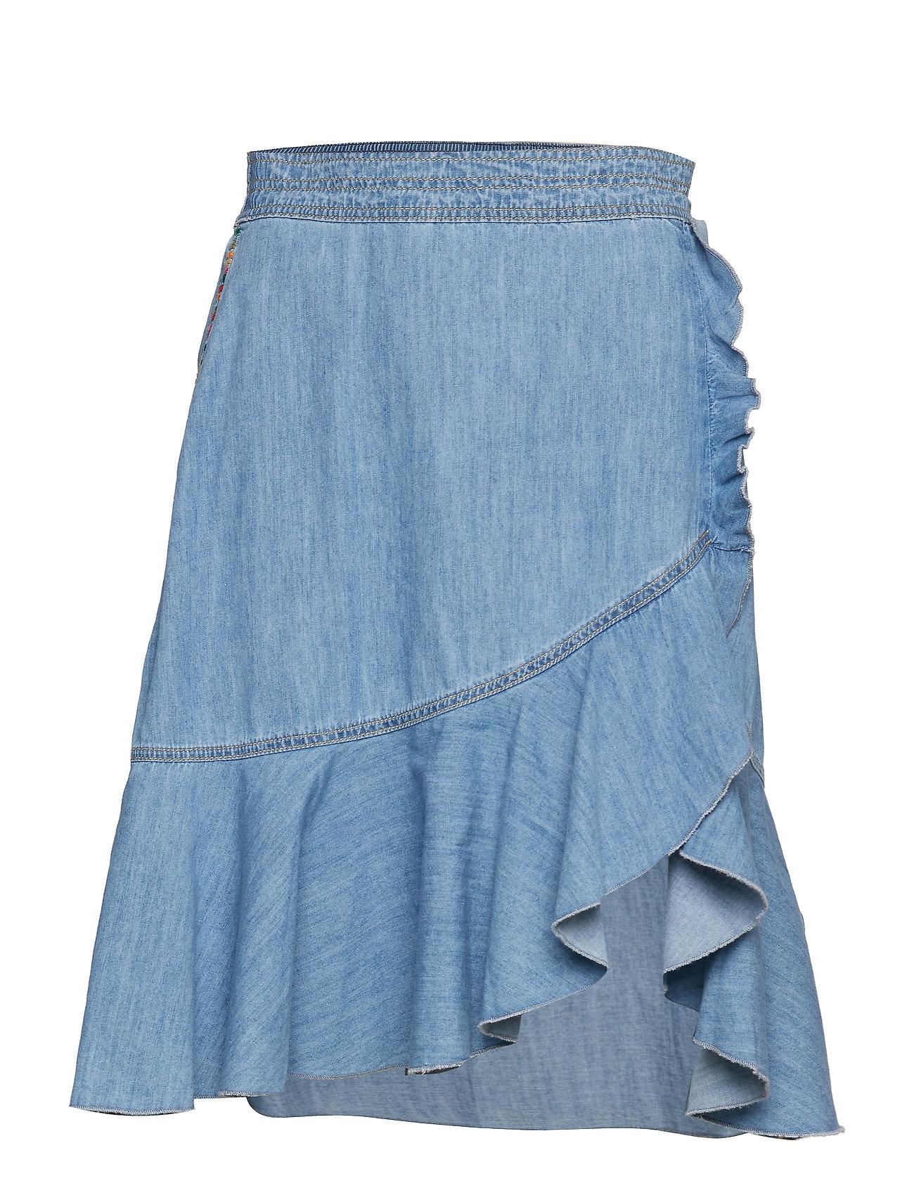 ODD MOLLY so me skirt - DENIM CHAMBRAY