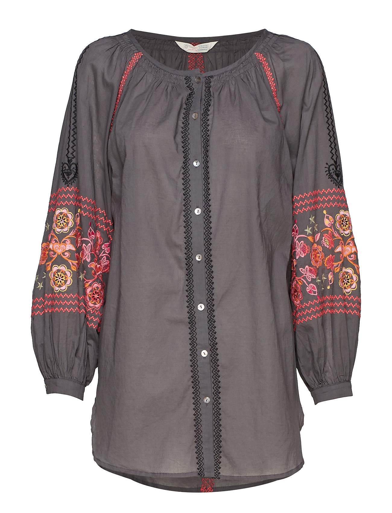 ODD MOLLY no doubt shirt - ASPHALT
