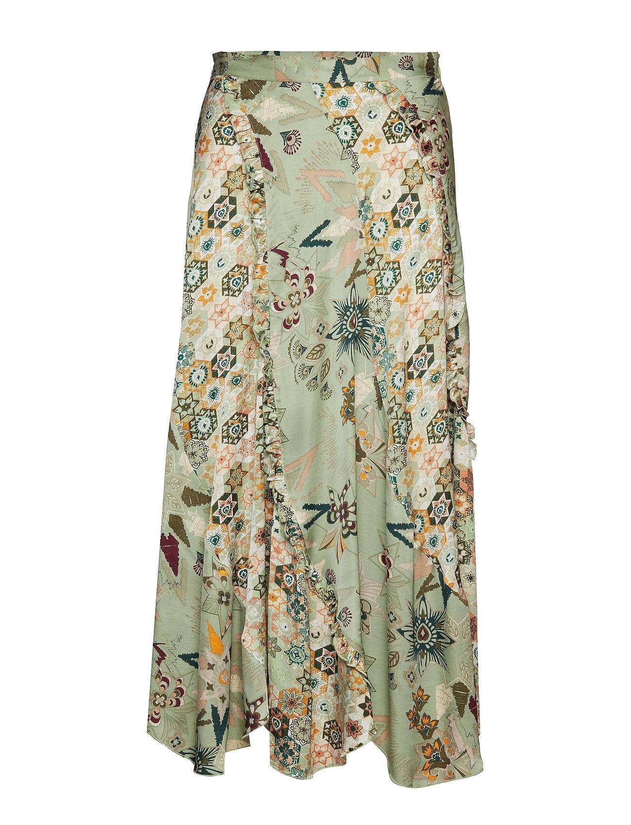 ODD MOLLY molly-hooked skirt - LICHEN GREEN
