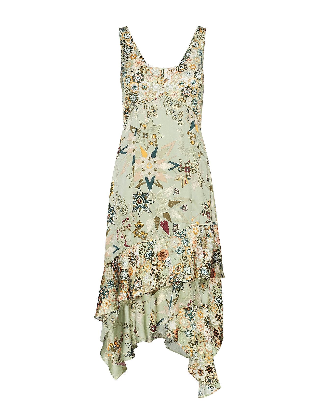 ODD MOLLY molly-hooked dress - LICHEN GREEN