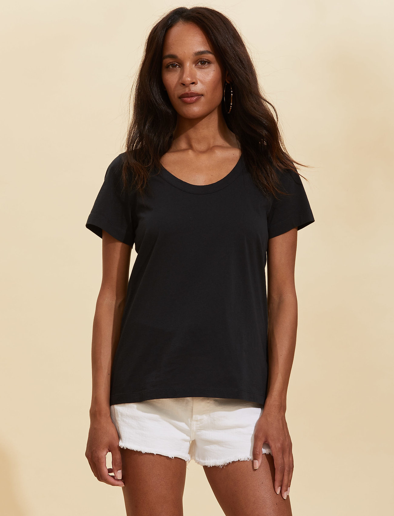 ODD MOLLY - Juliette S/S Top - t-shirts - almost black