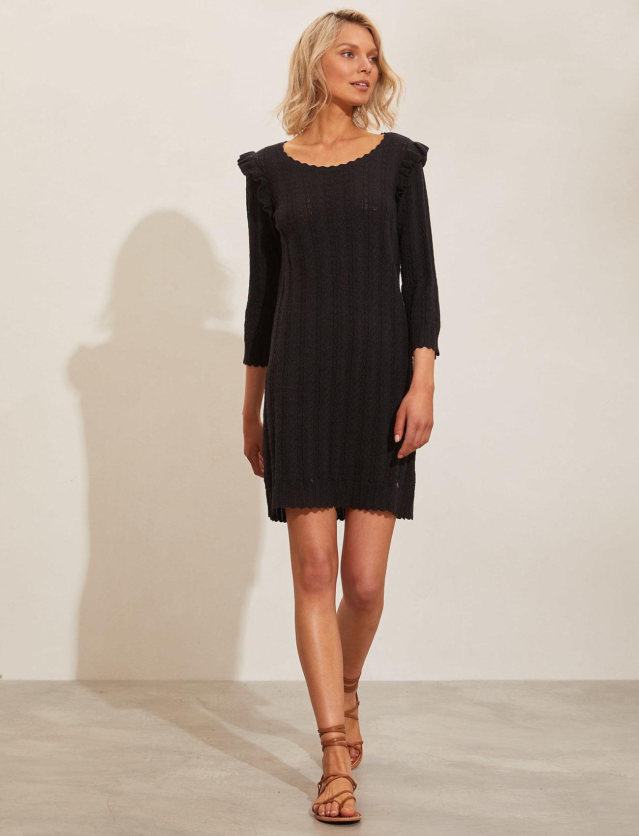 ODD MOLLY - Leslie Dress - hverdagskjoler - black - 0