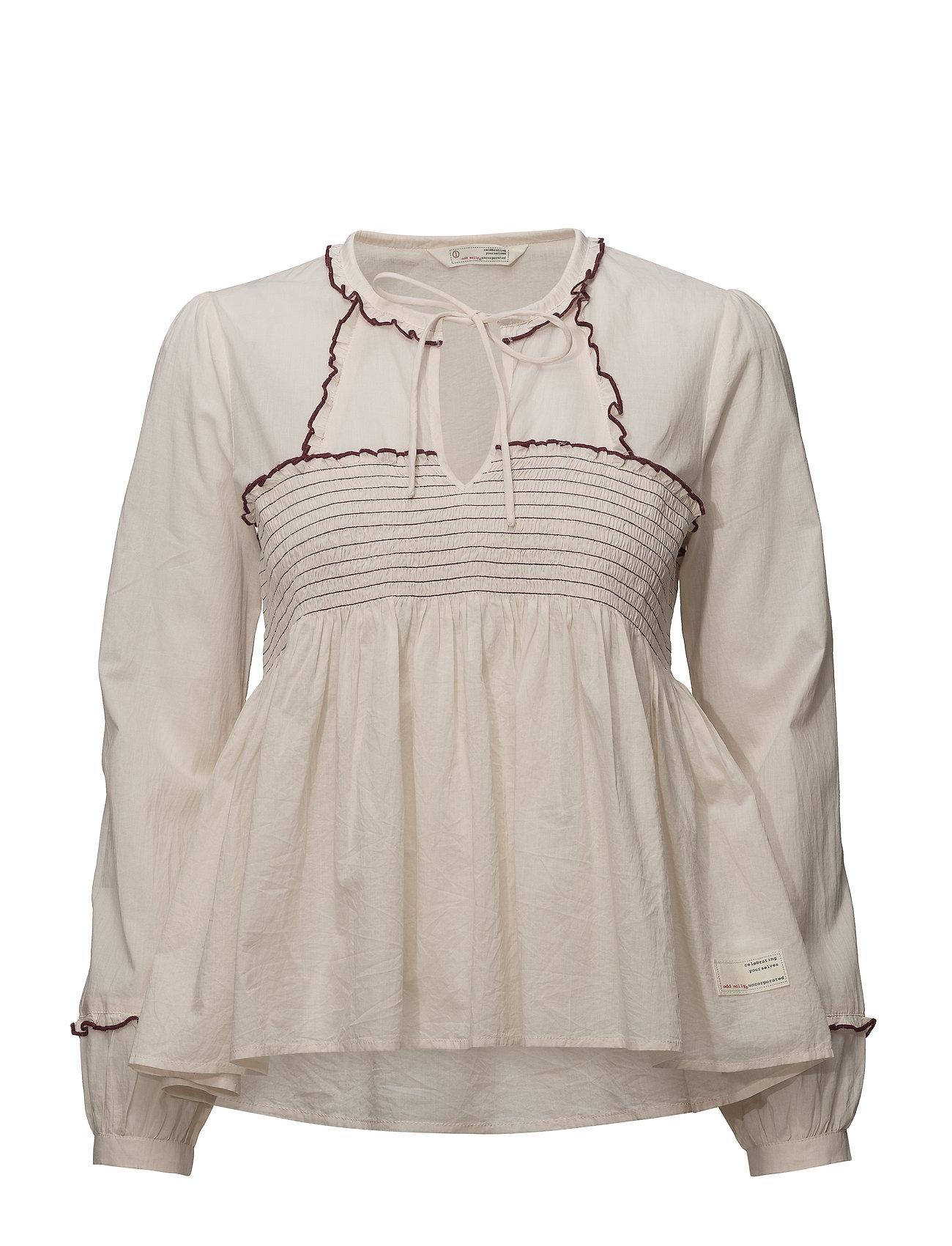 ODD MOLLY ripple crush blouse - SHEER PINK