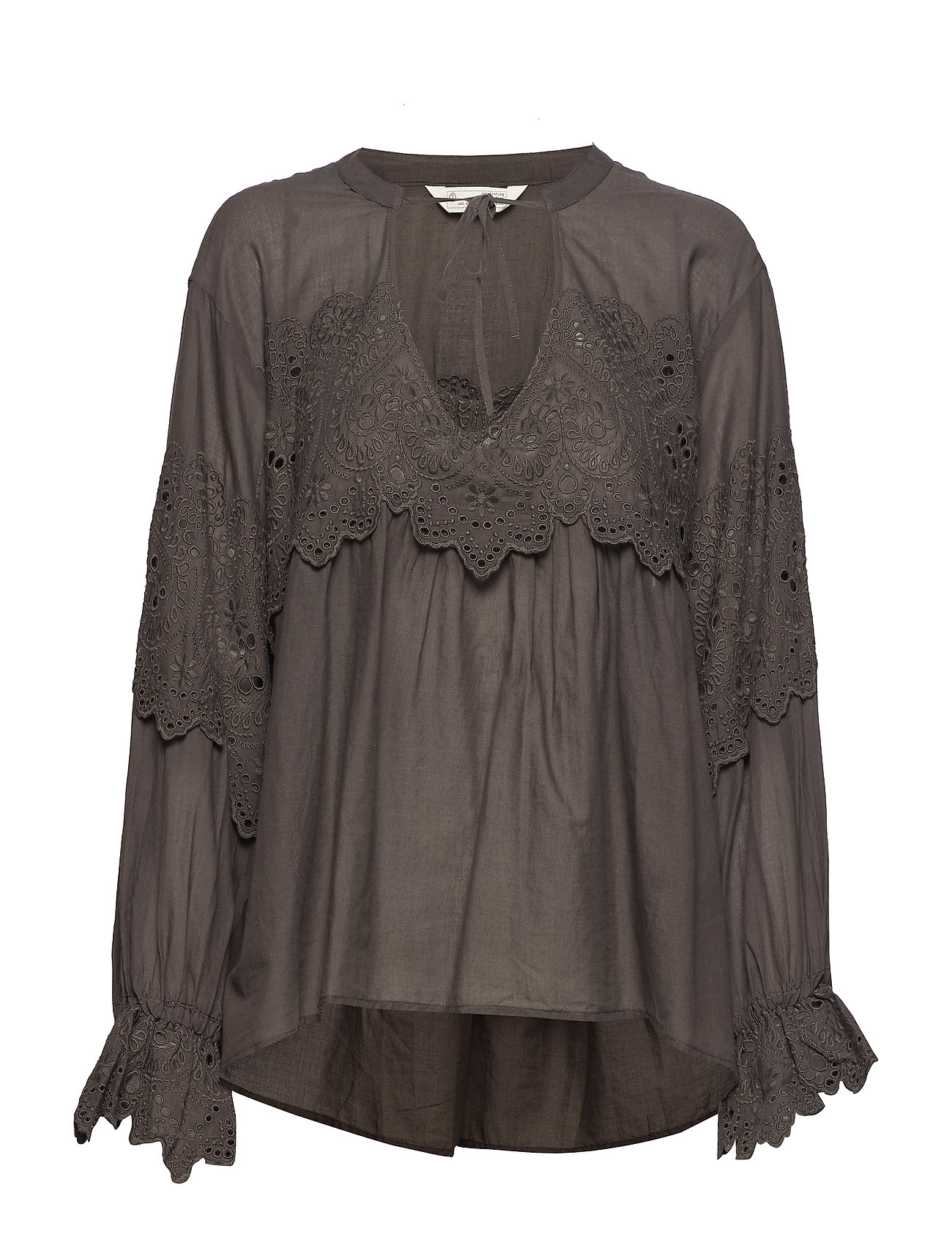 ODD MOLLY flying with love blouse - STORMY GREY
