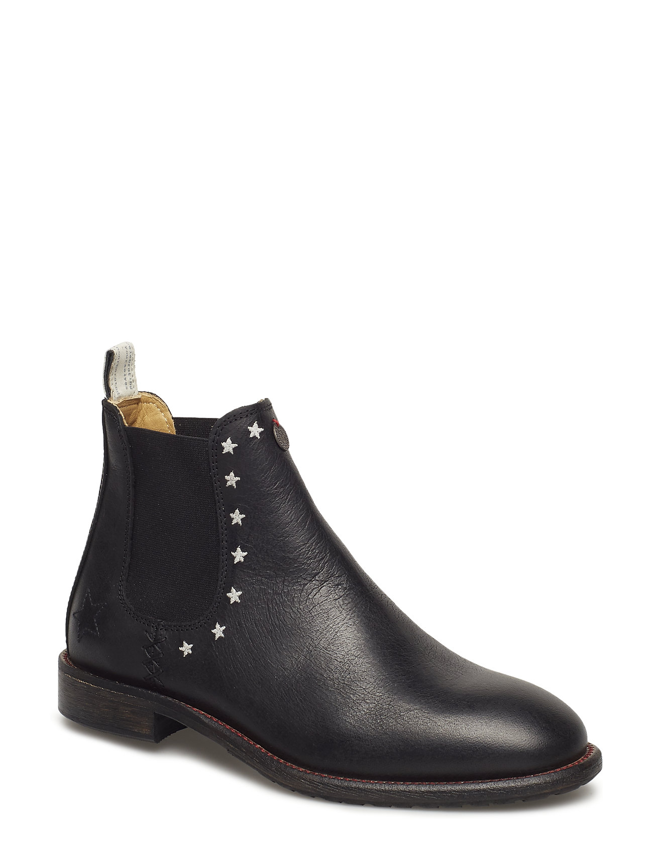ODD MOLLY mollyhood low leather boot - ALMOST BLACK