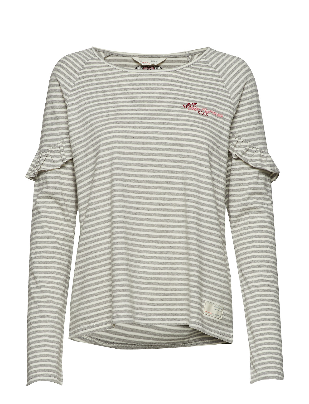 ODD MOLLY hey tiger top - GREY MELANGE