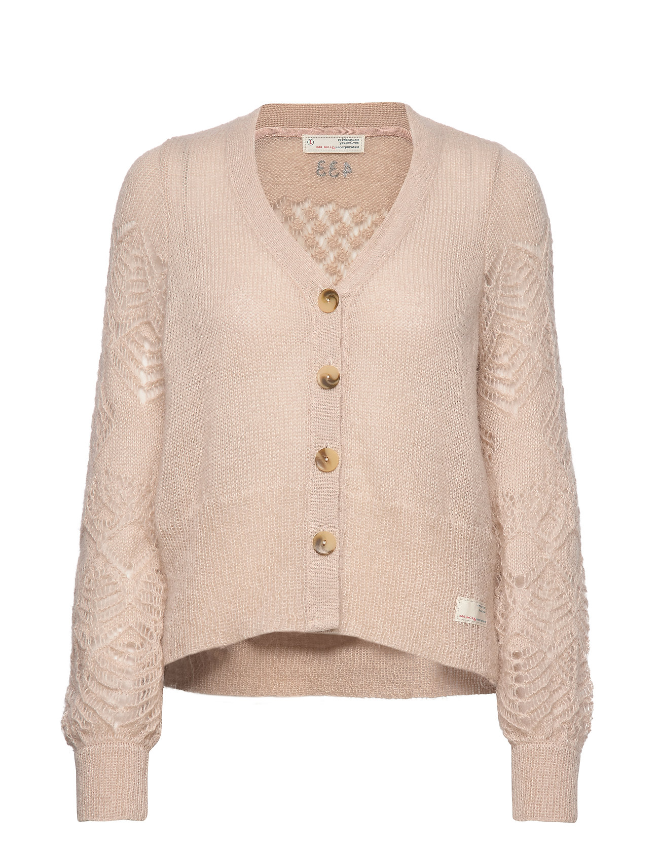 ODD MOLLY My New Aesthetic Cardigan - GOLDEN PORCELAIN