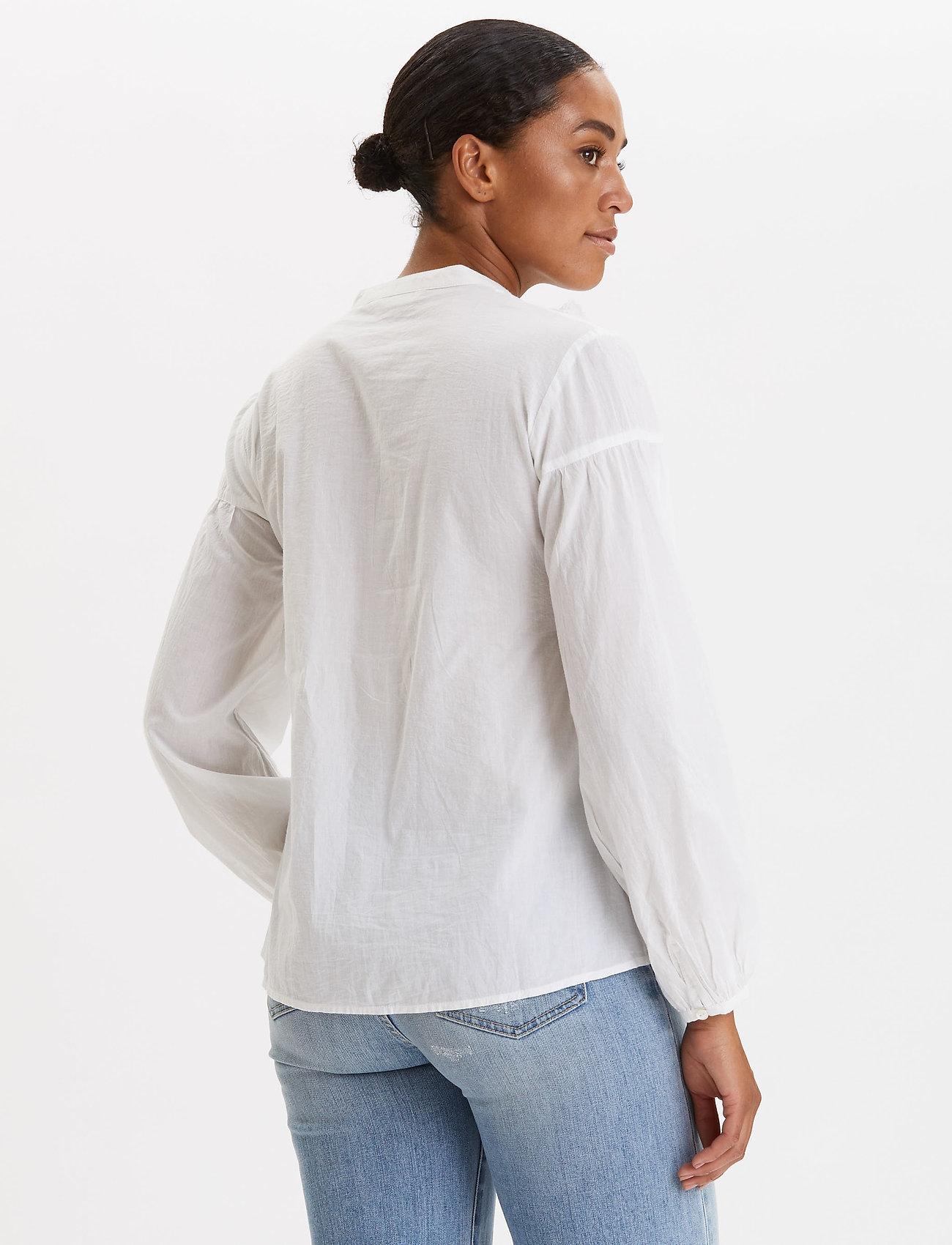 ODD MOLLY Puff-Puff Blouse - Bluzki & Koszule BRIGHT WHITE - Kobiety Odzież.