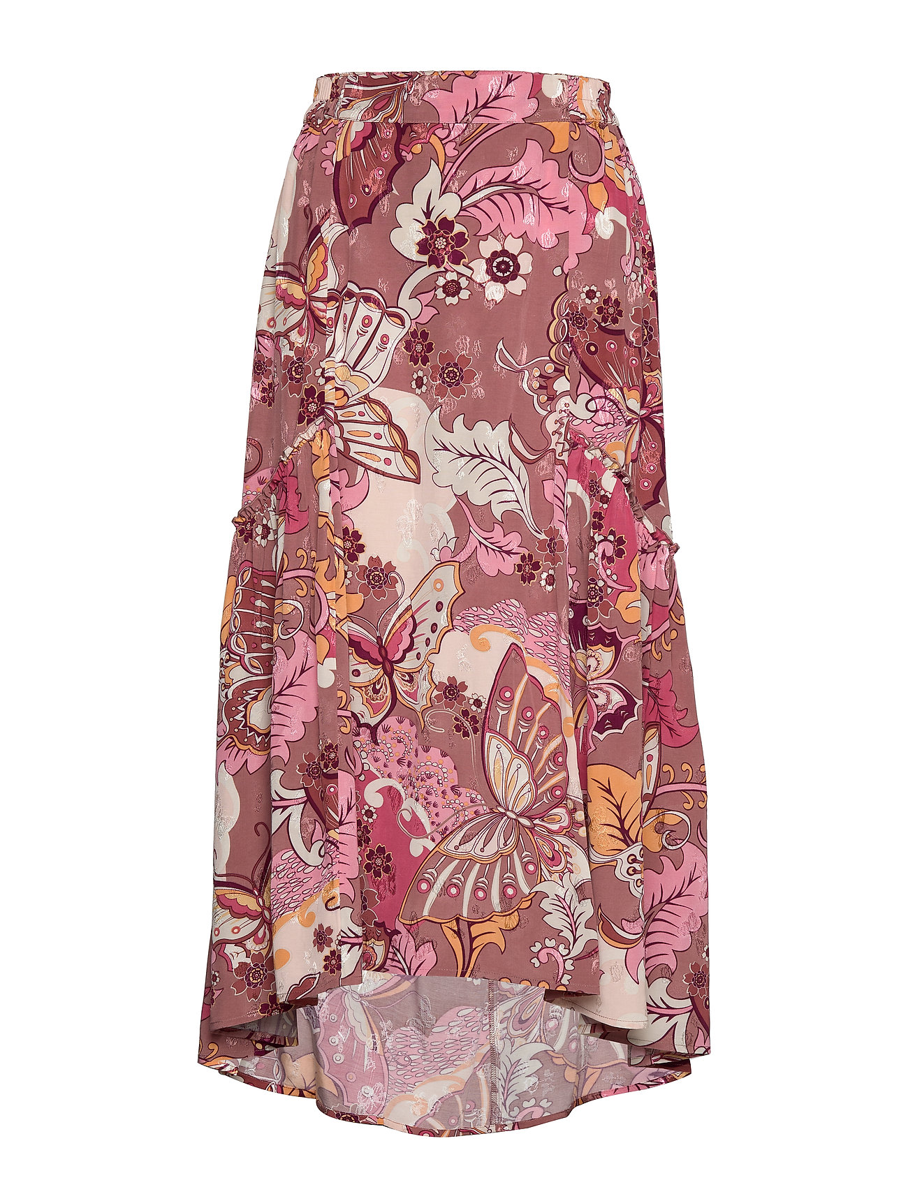 ODD MOLLY Puzzle Me Together Skirt - RED TAUPE