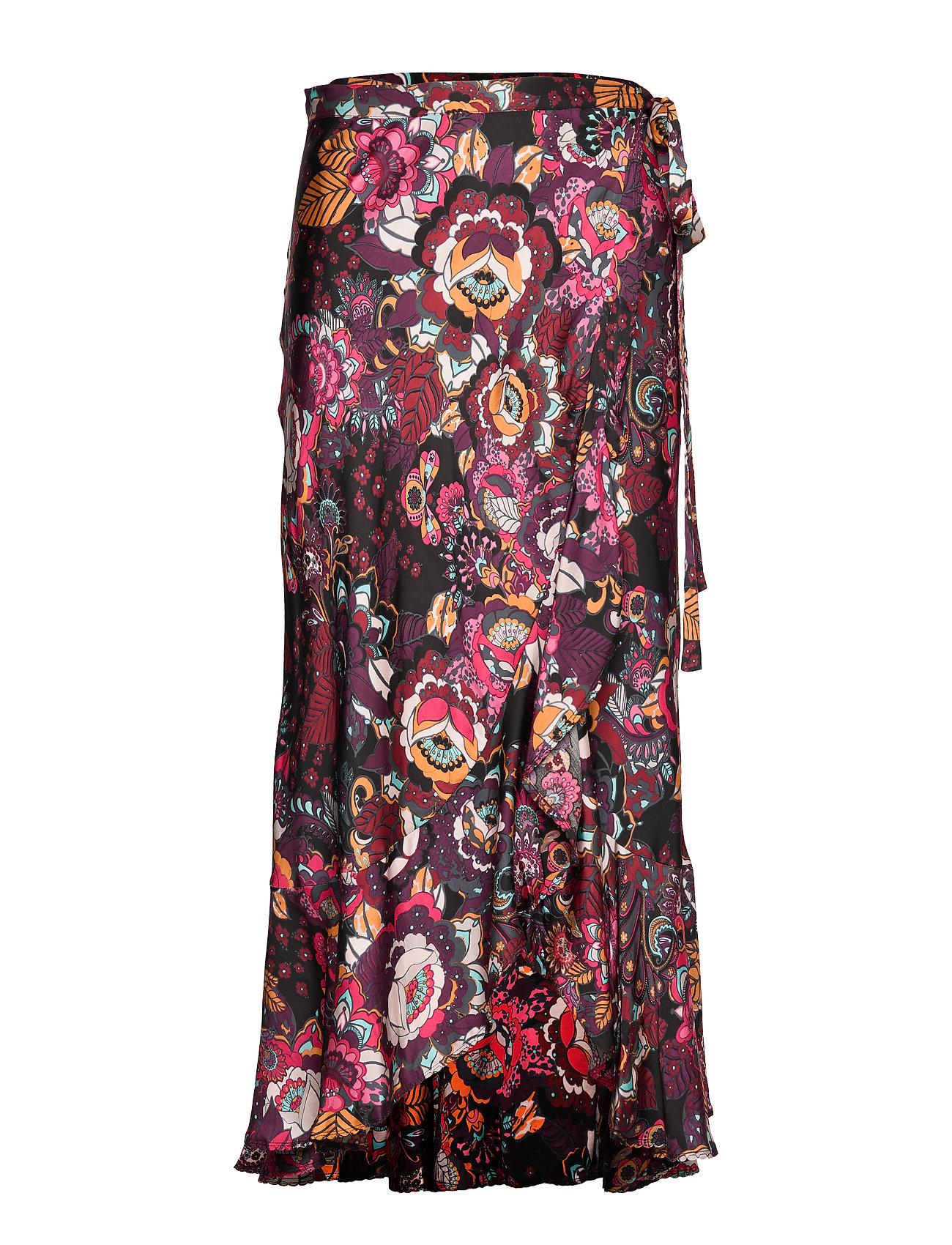 ODD MOLLY Extravaganca Wrap Skirt - ALMOST BLACK