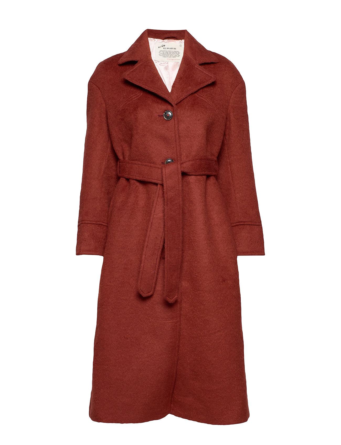 ODD MOLLY Lengthy Beaut Coat - RUSSET BROWN
