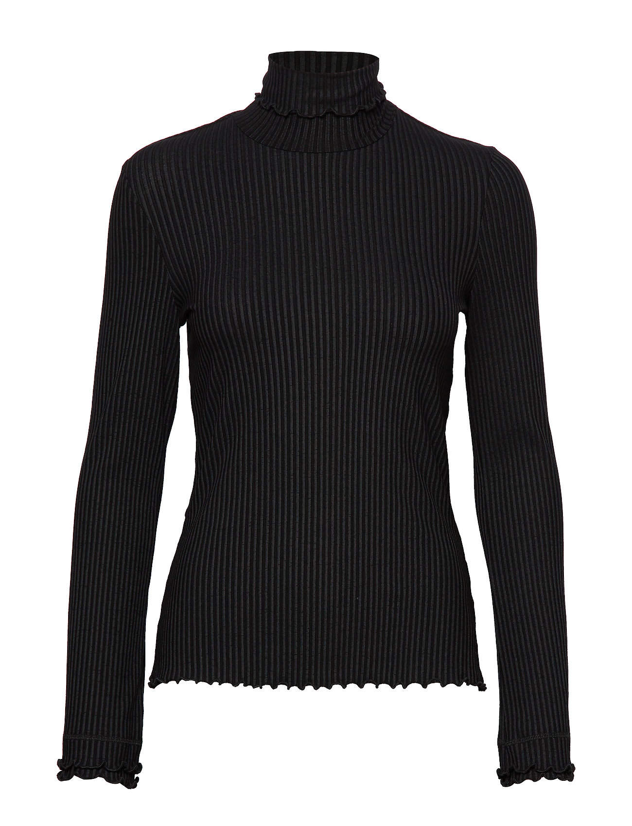 ODD MOLLY Decisionmaker L/S Top - ALMOST BLACK