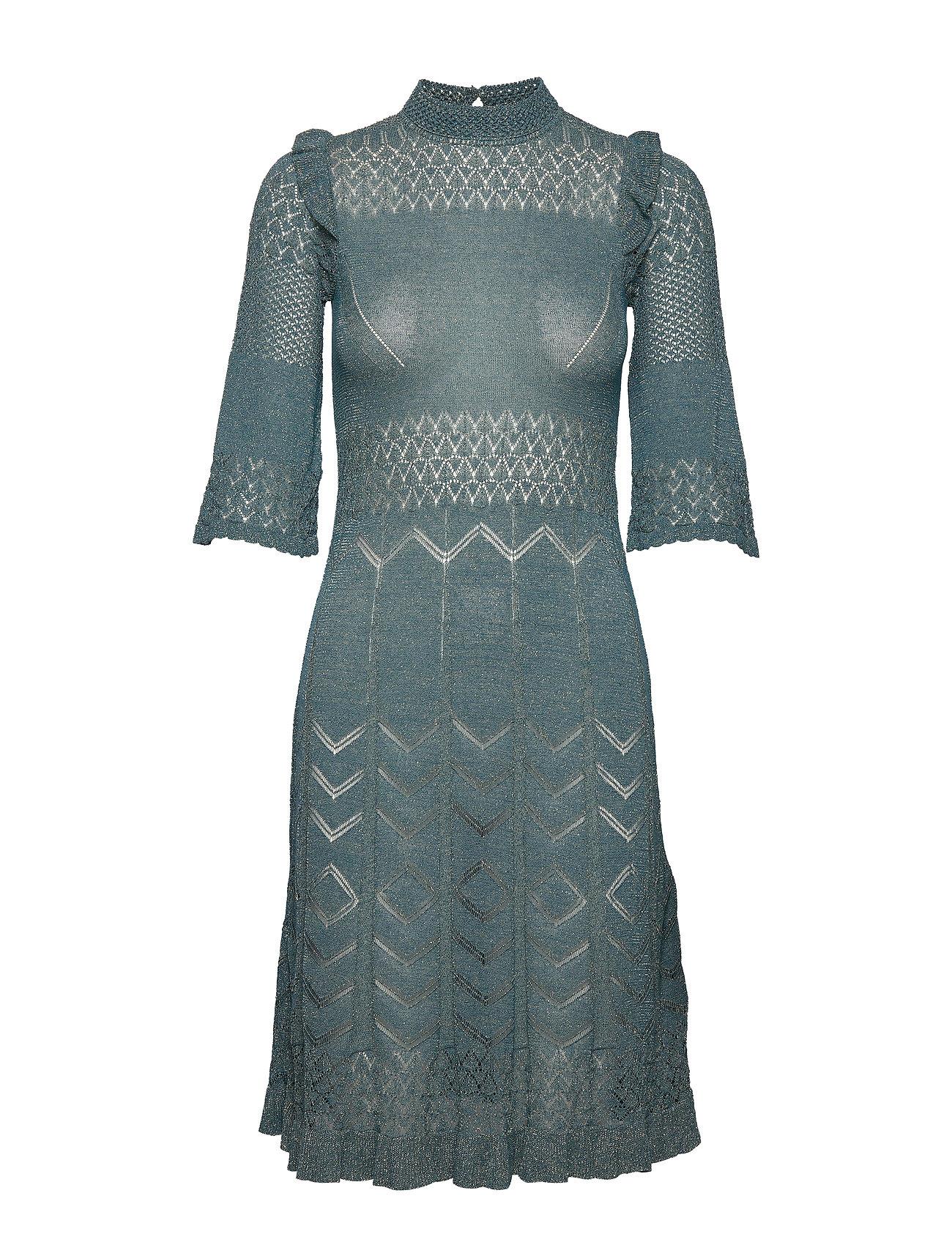 ODD MOLLY Pretty Pointelle Dress - BLUE CORAL