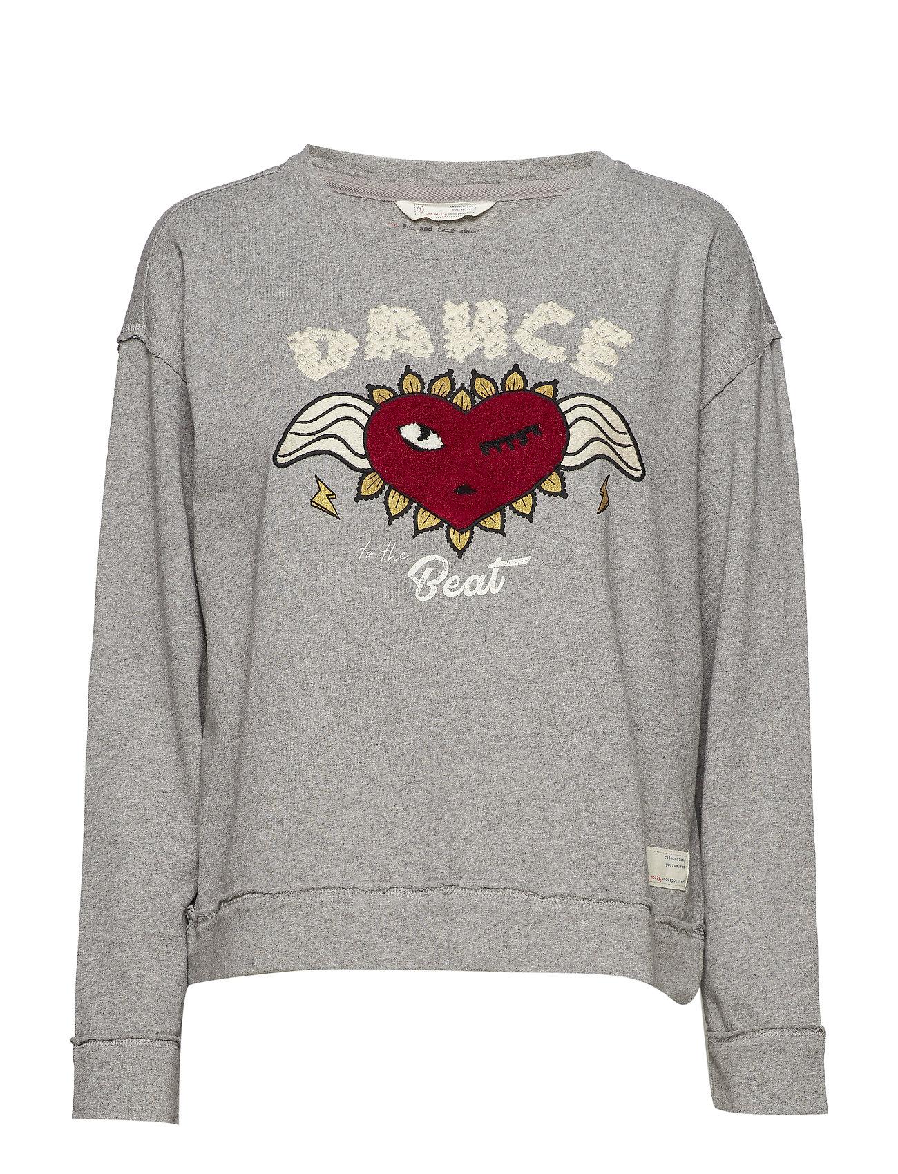 ODD MOLLY fun and fair sweater - LIGHT GREY MELANGE