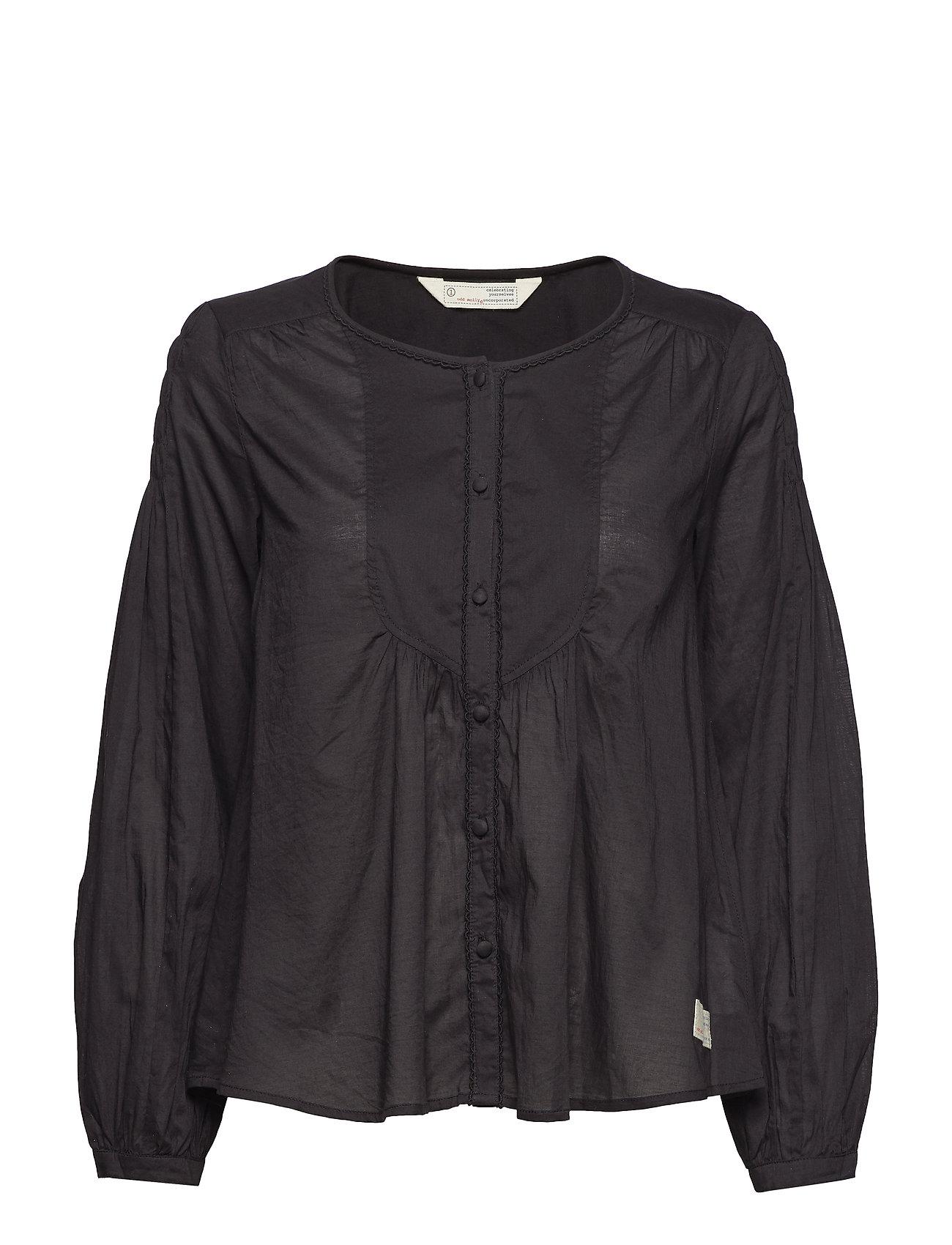 ODD MOLLY magic space blouse - ALMOST BLACK