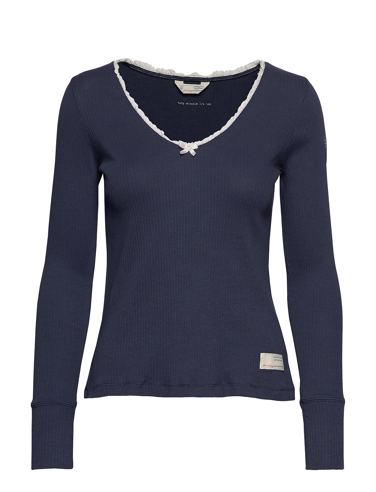 ODD MOLLY Tiny Miracle L/S Top - DARK BLUE