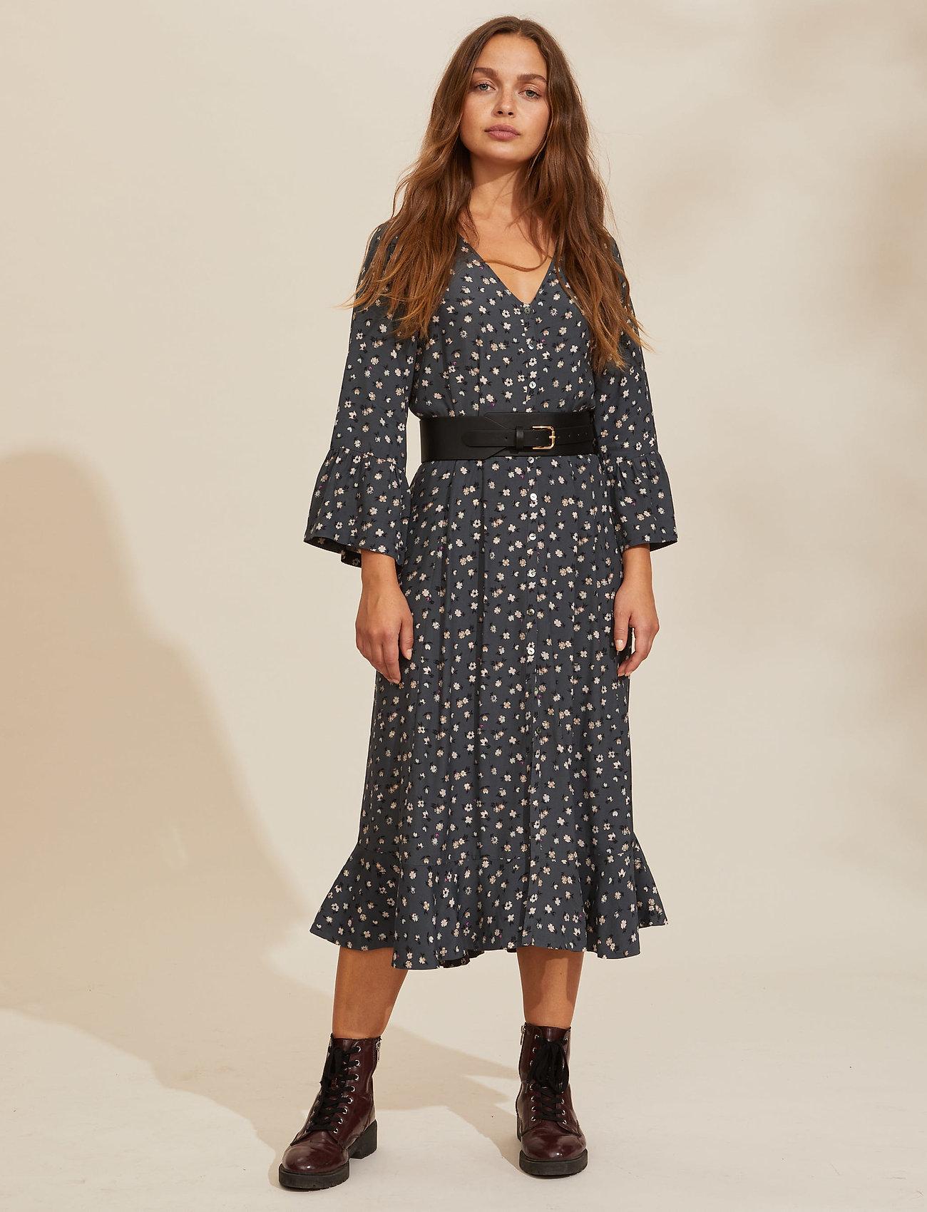 ODD MOLLY - Esmée Long Dress - hverdagskjoler - asphalt - 0