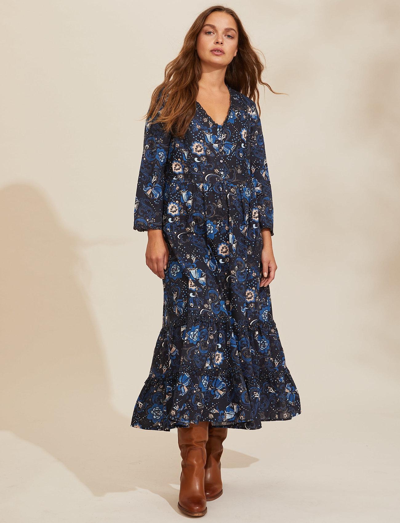 ODD MOLLY - Doreen Dress - midi kjoler - dark blue - 0