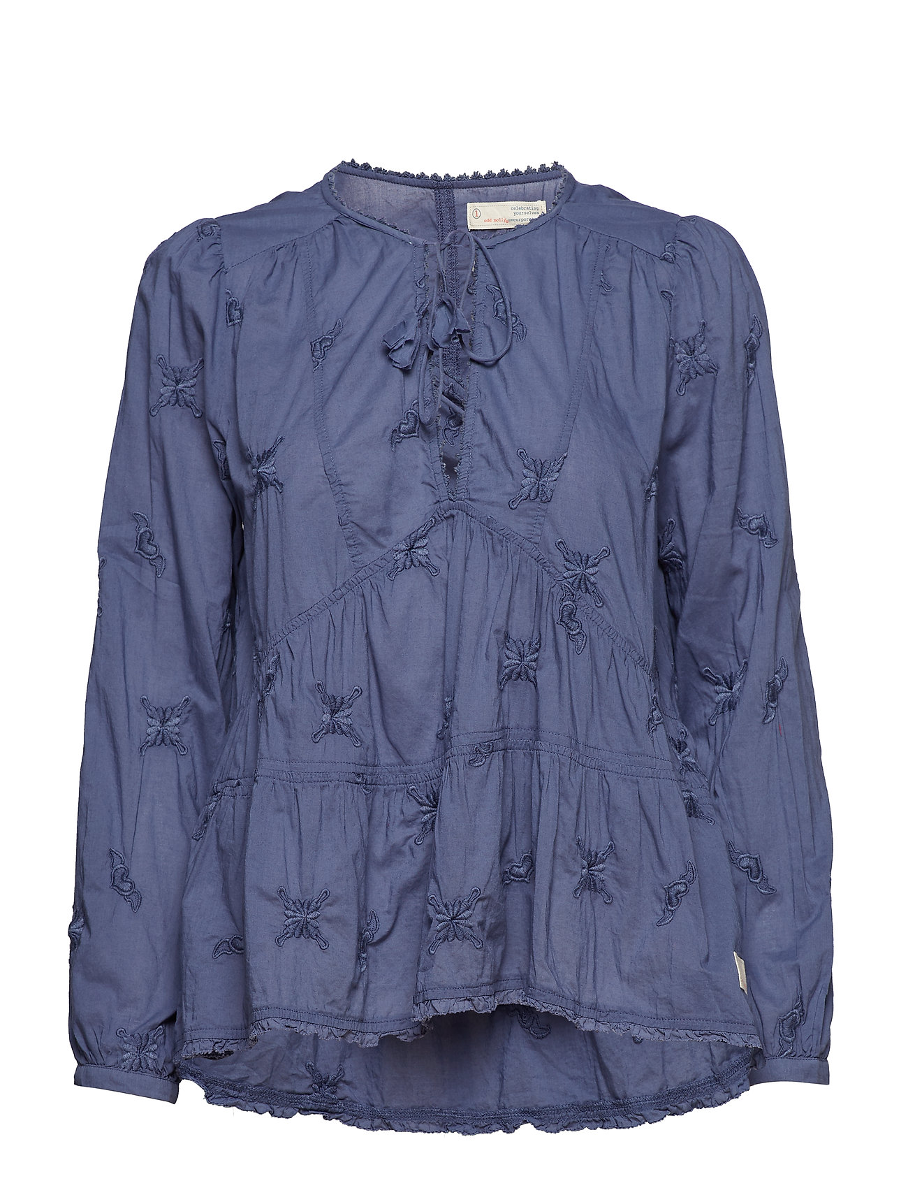 ODD MOLLY sweet symbolism blouse - VINTAGE BLUE