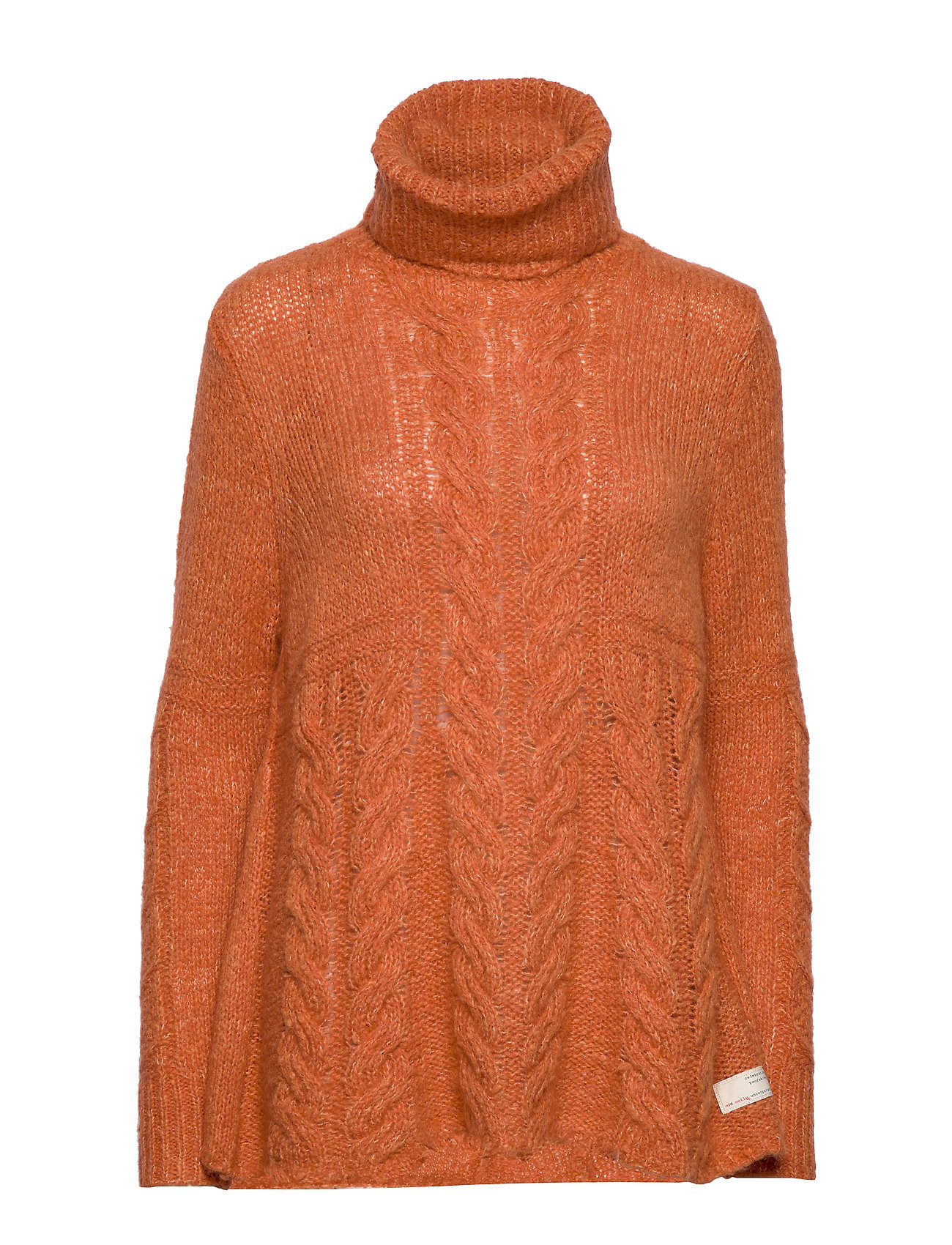 ODD MOLLY Cozy Hugs Turtleneck - DEEP ORANGE