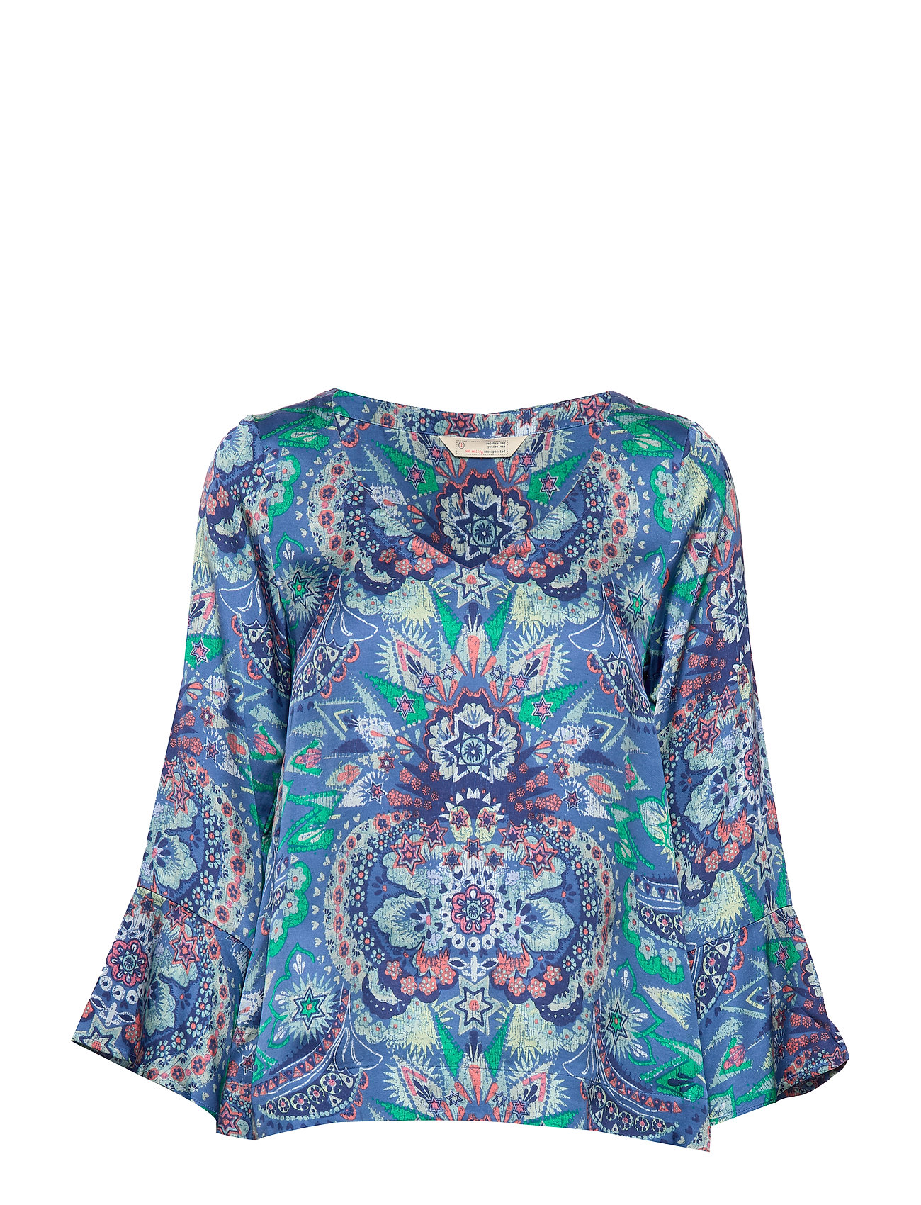 ODD MOLLY Head Turner Blouse - WASHED COBALT