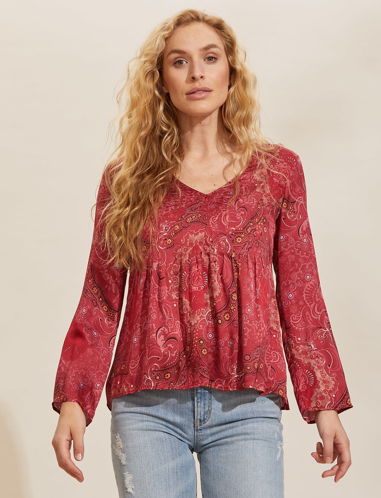 ODD MOLLY - Amélie Blouse - langærmede bluser - red elderberry - 0