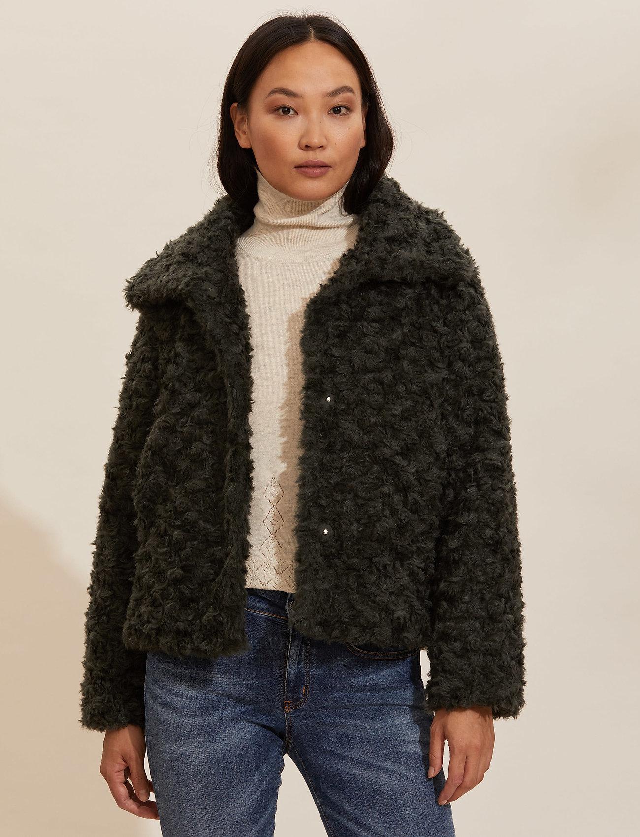 ODD MOLLY - Amandine Jacket - fausse fourrure - green asphalt - 0