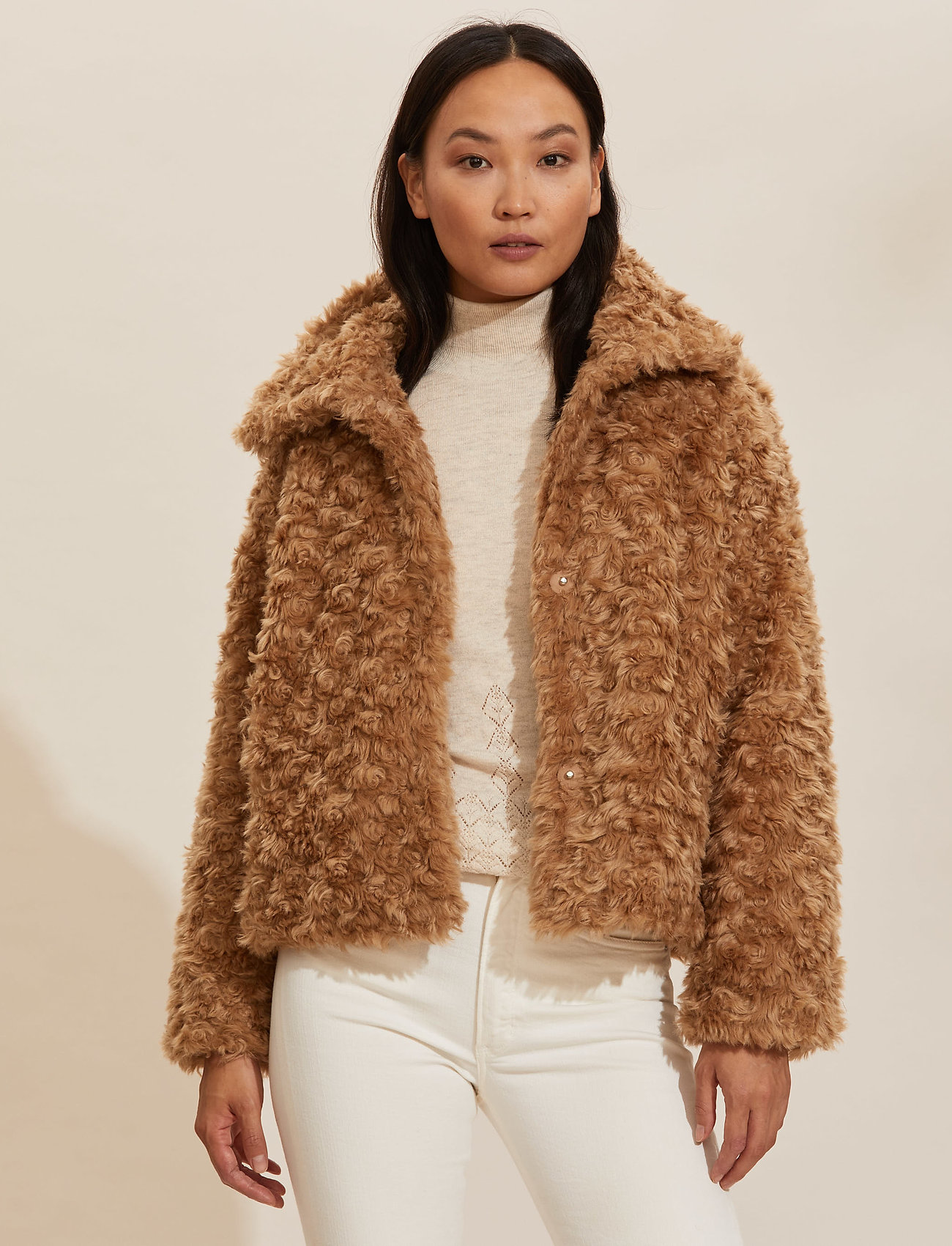 ODD MOLLY - Amandine Jacket - faux fur - soft taupe - 0