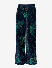 ODD MOLLY - Cherry Bomb Pant - pantalons larges - night sky blue - 1