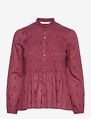 ODD MOLLY - Melinda Blouse - langærmede bluser - baked burgundy - 1