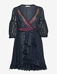 ODD MOLLY - two-step flow dress - lyhyet mekot - dark blue - 0