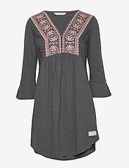 ODD MOLLY - Curious Dress - korte kjoler - asphalt - 1