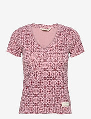 ODD MOLLY - Erin Top - t-shirts - pink mauve - 1