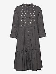 ODD MOLLY - Kayla Dress - sommerkjoler - asphalt - 1
