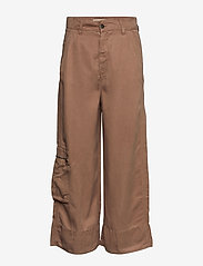ODD MOLLY - Tender Pants - pantalons larges - chocolate cream - 0
