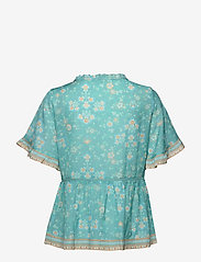 ODD MOLLY - Bohemic S/L Blouse - kortærmede bluser - moroccan turquoise - 1