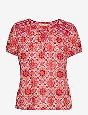 ODD MOLLY - Myrtle Blouse - kortærmede bluser - pink fudge - 1