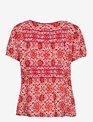 ODD MOLLY - Myrtle Blouse - kortærmede bluser - pink fudge - 2