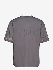 ODD MOLLY - Cassia Blouse - short-sleeved blouses - asphalt - 2