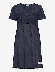 Finest Embroidery Dress - DARK BLUE