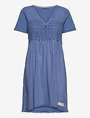 ODD MOLLY - Finest Embroidery Dress - sommerkjoler - vivid blue - 1