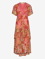 ODD MOLLY - Positano Long Dress - aftenkjoler - spiced coral - 0