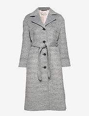 ODD MOLLY - Lengthy Beaut Coat - manteaux en laine - light grey melange - 1