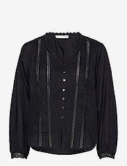ODD MOLLY - Rachelle Blouse - long sleeved blouses - almost black - 1