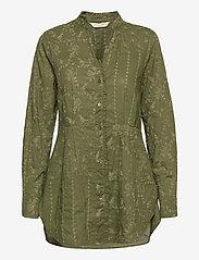 ODD MOLLY - Vivian Shirt - langærmede bluser - dark olive - 1