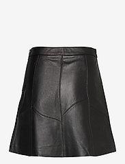 ODD MOLLY - Victoria Leather Skirt - korte nederdele - almost black - 2