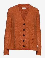 ODD MOLLY - Cozy Hugs Cardigan - gilets - deep orange - 0