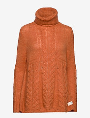 ODD MOLLY - Cozy Hugs Turtleneck - rolkraagtruien - deep orange - 0