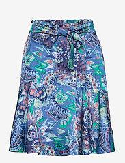 ODD MOLLY - Head Turner Skirt - midi rokken - washed cobalt - 0