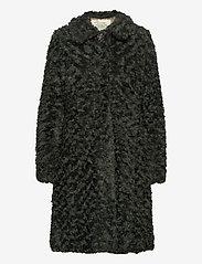 ODD MOLLY - Amandine Long Jacket - fausse fourrure - green asphalt - 2